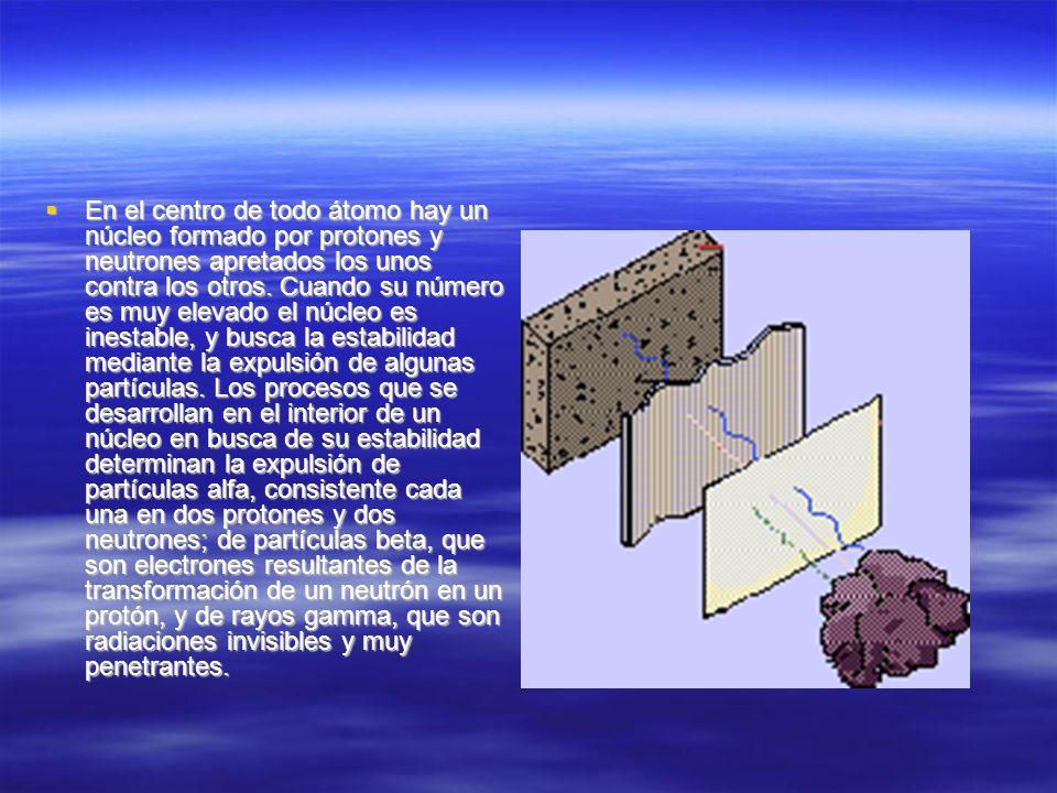 En el centro de todo átomo hay un núcleo formado por protones y neutrones apretados los unos contra los otros. Cuando su número es muy elevado el núcl