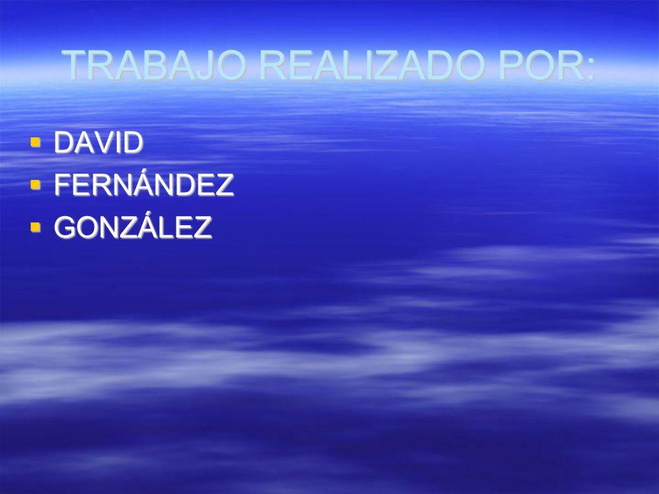 TRABAJO REALIZADO POR: DAVID FERNÁNDEZ GONZÁLEZ