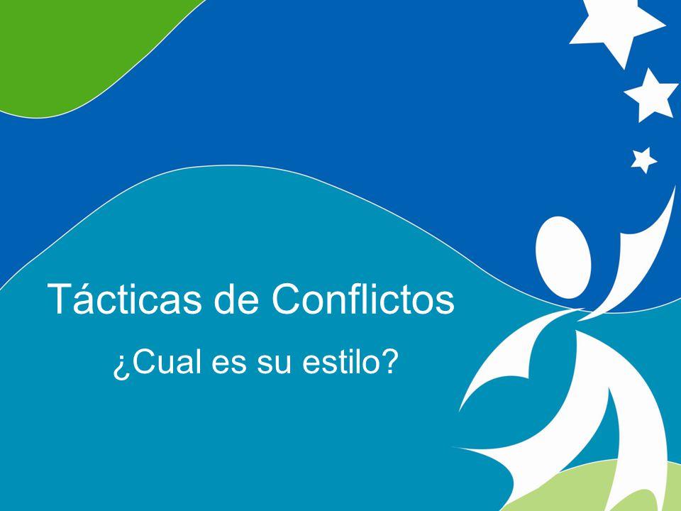 8 Understanding Conflict ©2008, University of Vermont and PACER Center Tácticas de Conflictos ¿Cual es su estilo?