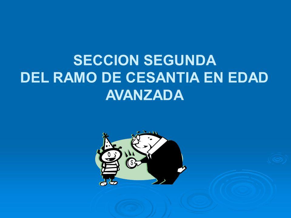 SECCION SEGUNDA DEL RAMO DE CESANTIA EN EDAD AVANZADA
