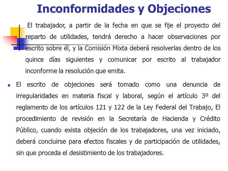El escrito de objeciones será tomado como una denuncia de irregularidades en materia fiscal y laboral, según el artículo 3º del reglamento de los artí