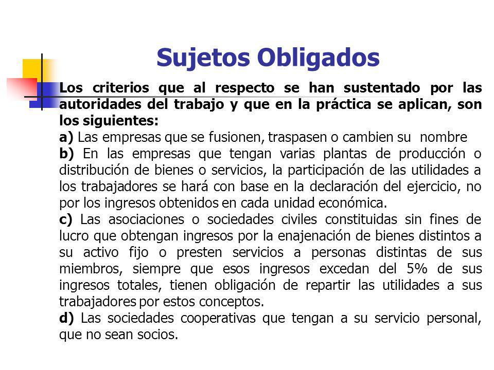 Empresas exentas - Quedan exceptuadas de la obligación de repartir utilidades: I.