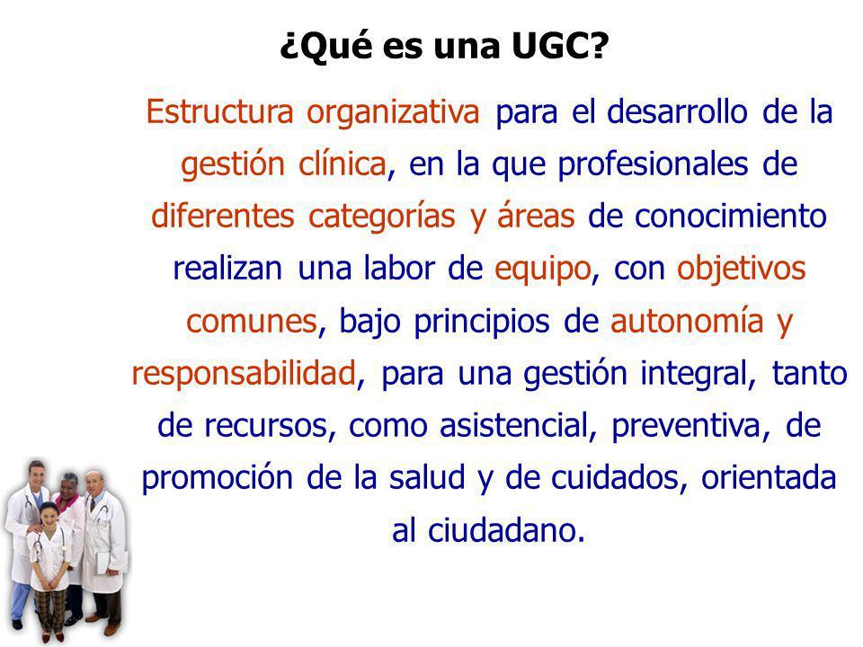UGC DE CAMAS. DISTRITO DE AP ALJARAFE. SEVILLA Estructura organizativa para el desarrollo de la gestión clínica, en la que profesionales de diferentes