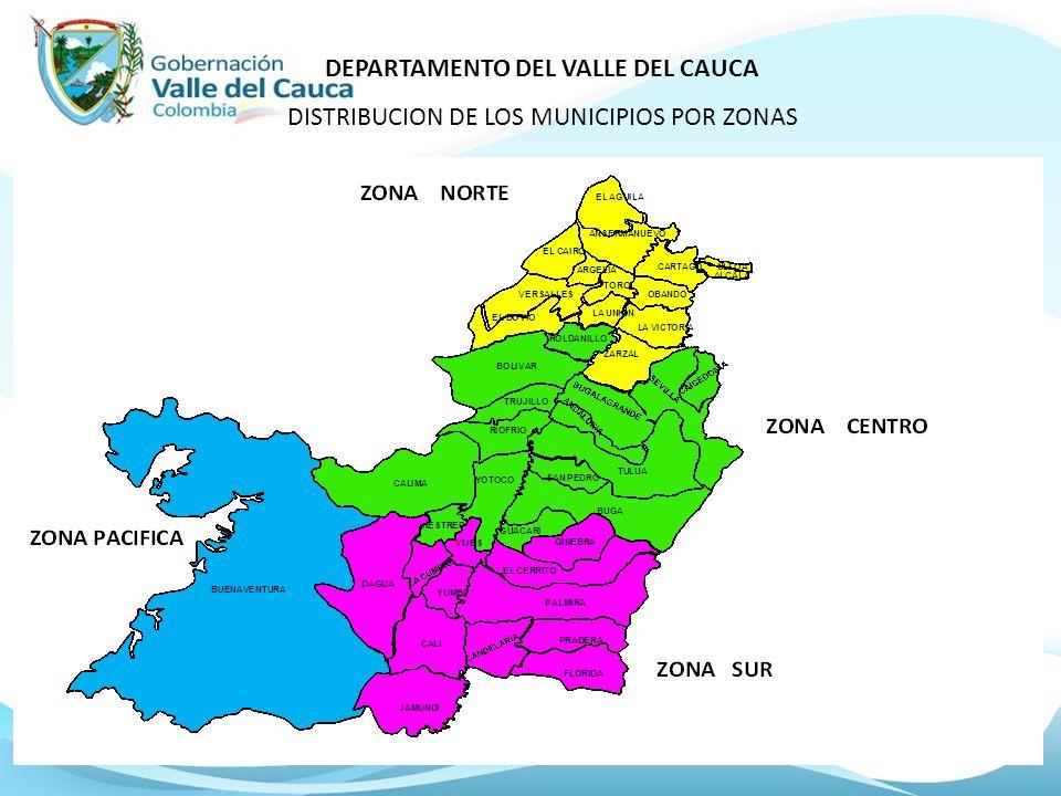 Los 42 municipios del Depto del Valle del Cauca fueron clasificados según criterios de riesgo para EVENTOS EN SALUD INFANTIL por razones de silencio epidemiológico, bajas coberturas, concentración poblacional, turístico, flujo migratorio, desplazados, orden público, aeropuerto internacional y otros.