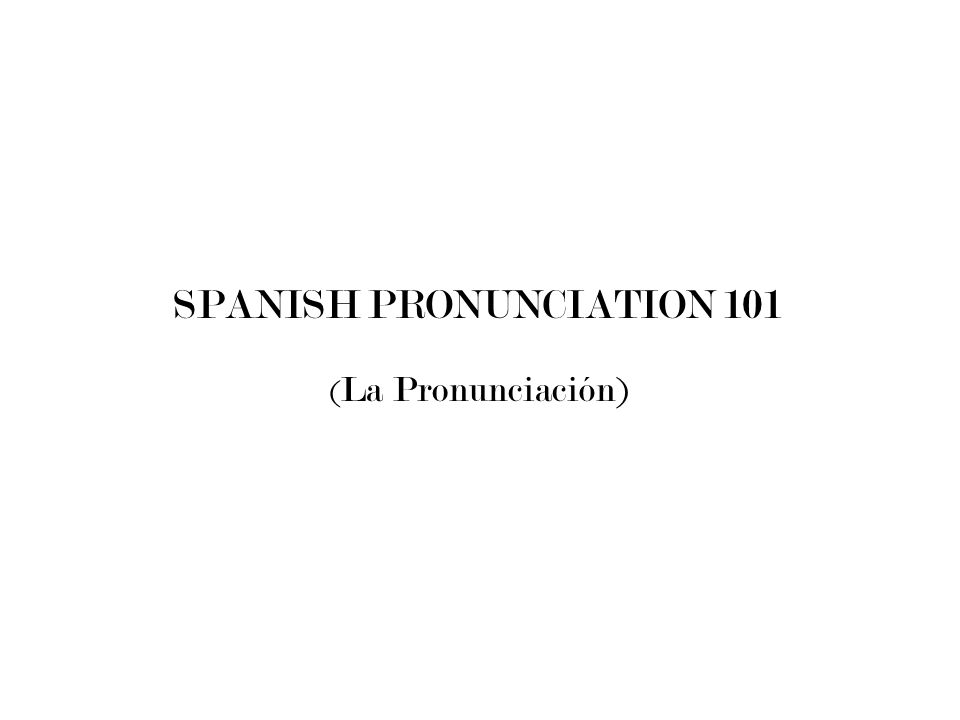 Did you know… That all of the sounds in Spanish are sounds you are already know.