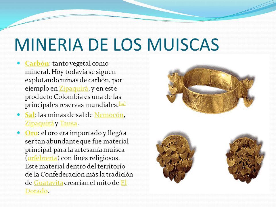 MINERIA DE LOS MUISCAS Carbón: tanto vegetal como mineral.