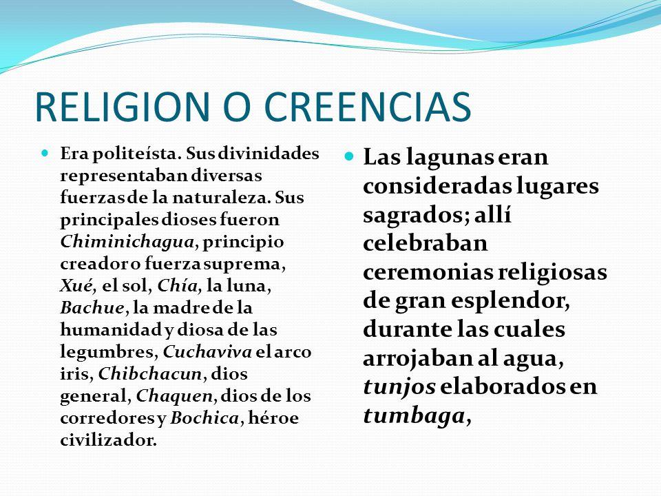 RELIGION O CREENCIAS Era politeísta.