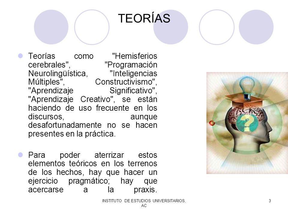 INSTITUTO DE ESTUDIOS UNIVERSITARIOS, AC 3 TEORÍAS Teorías como