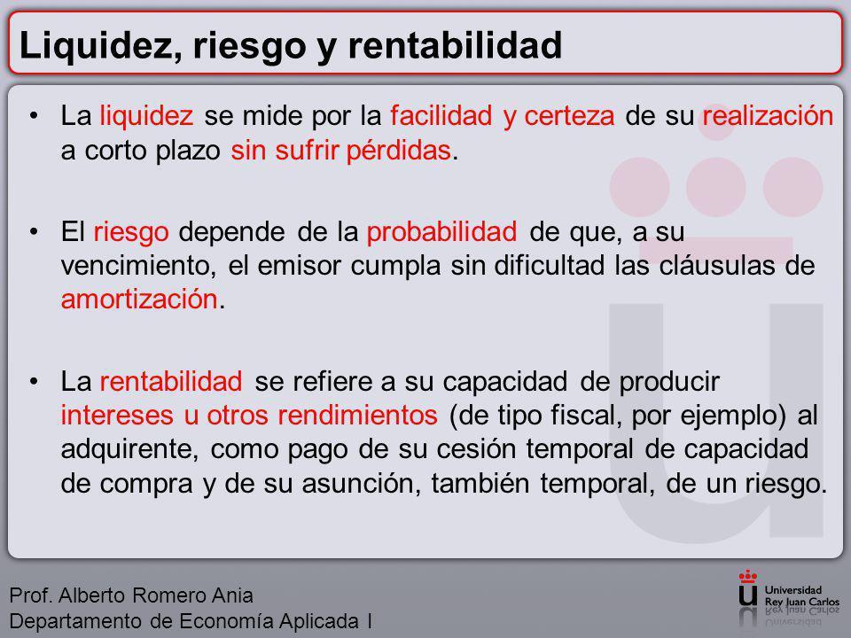 La estructura financiera de la PYME FINANCIACIÓN Prof.