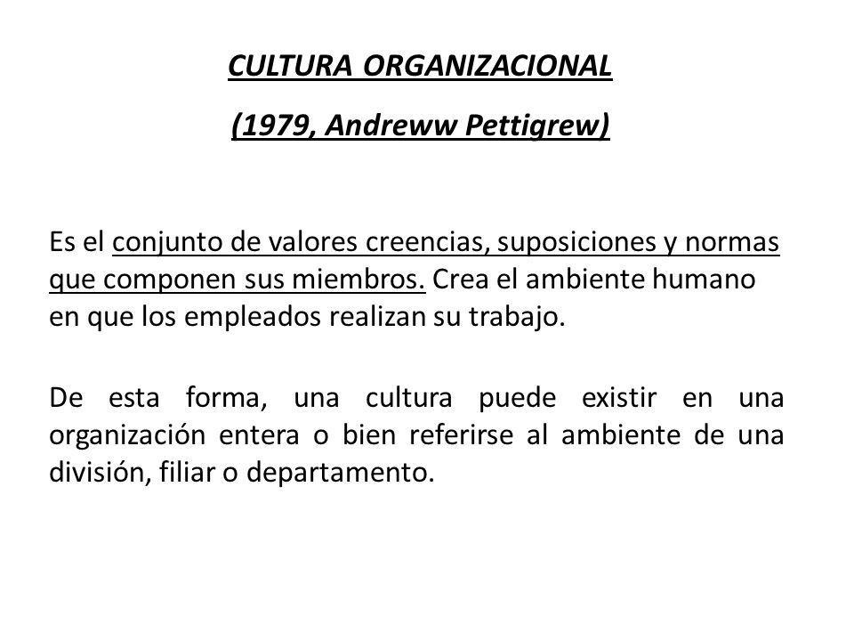 De esta forma, una cultura puede existir en una organización entera o bien referirse al ambiente de una división, filiar o departamento. CULTURA ORGAN