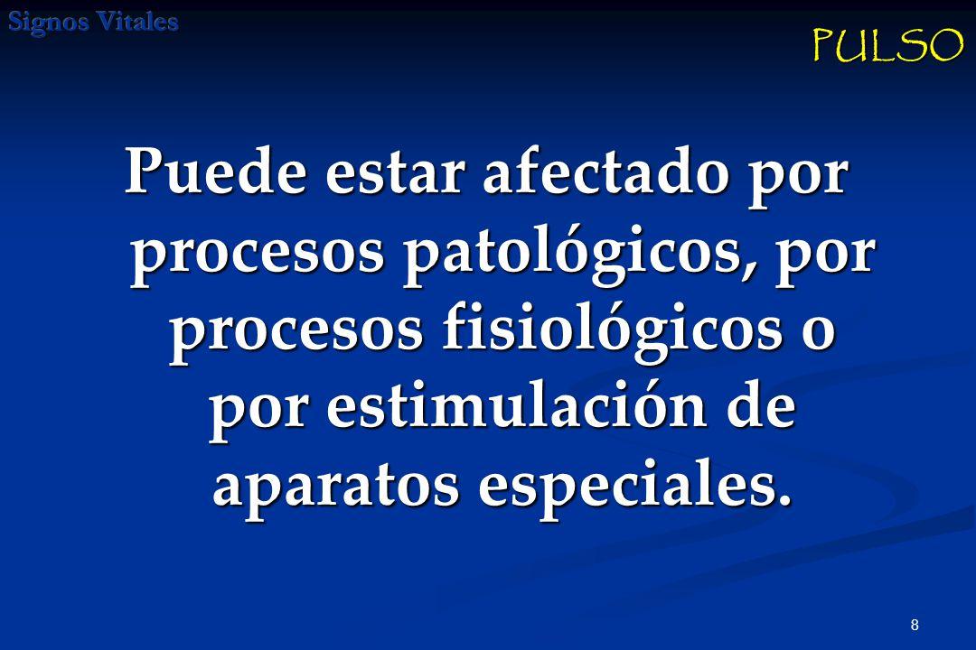 8 Puede estar afectado por procesos patológicos, por procesos fisiológicos o por estimulación de aparatos especiales.