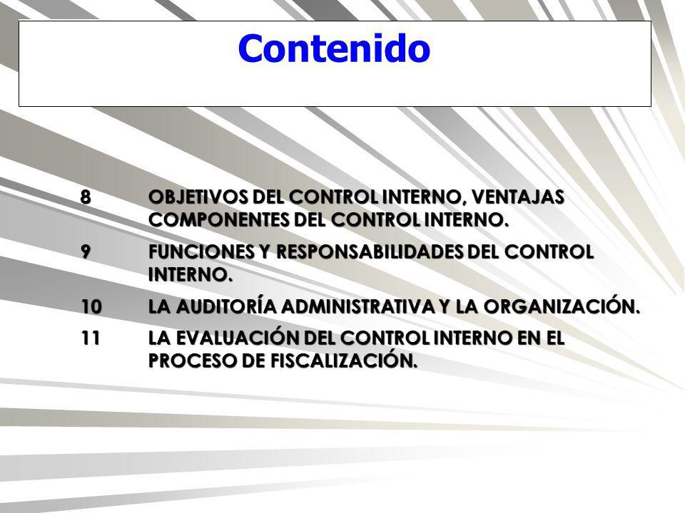 8.La evaluación del control interno en las funciones de fiscalización superior...