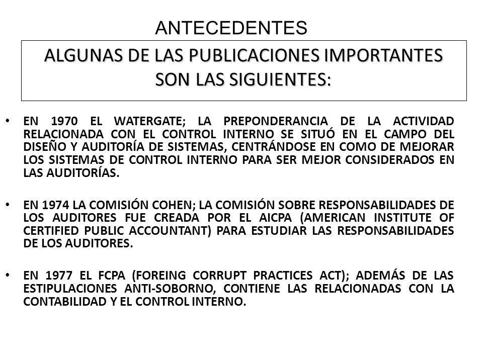 5. Componentes del Control Interno. Ambiente de Control