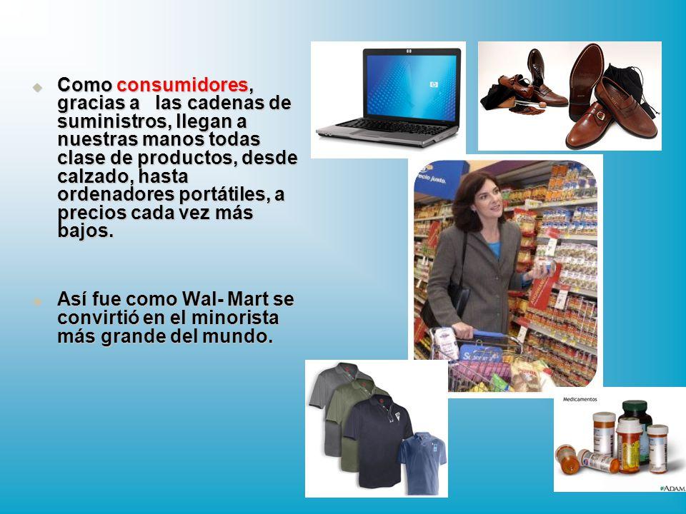 Como consumidores, gracias a las cadenas de suministros, llegan a nuestras manos todas clase de productos, desde calzado, hasta ordenadores portátiles