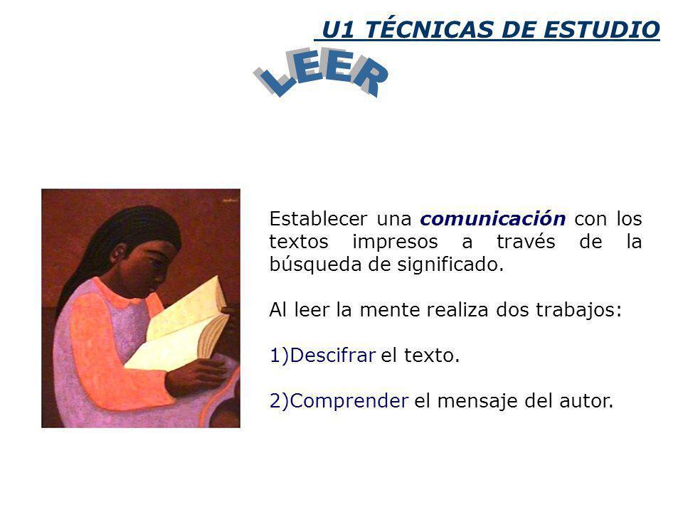 Establecer una comunicación con los textos impresos a través de la búsqueda de significado.