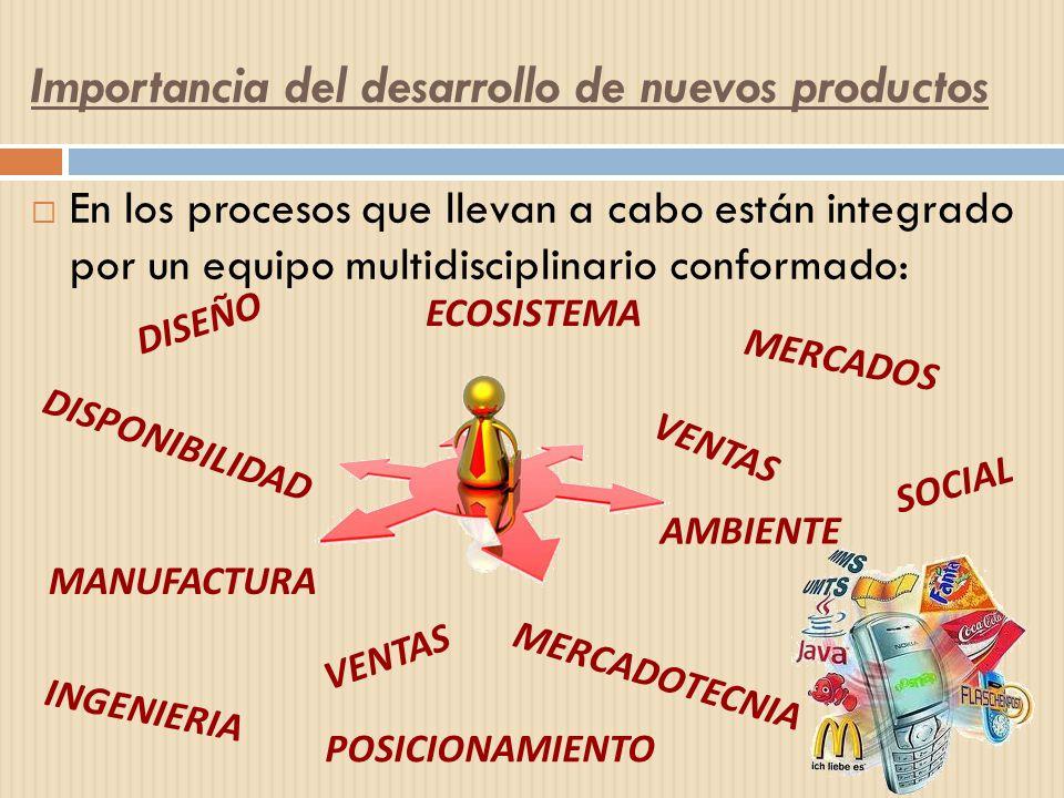 En los procesos que llevan a cabo están integrado por un equipo multidisciplinario conformado: DISEÑO MERCADOS DISPONIBILIDAD ECOSISTEMA INGENIERIA ME