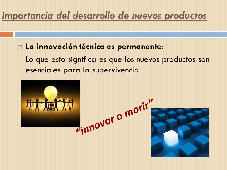 La innovación técnica es permanente: Lo que esto significa es que los nuevos productos son esenciales para la supervivencia innovar o morir Importanci