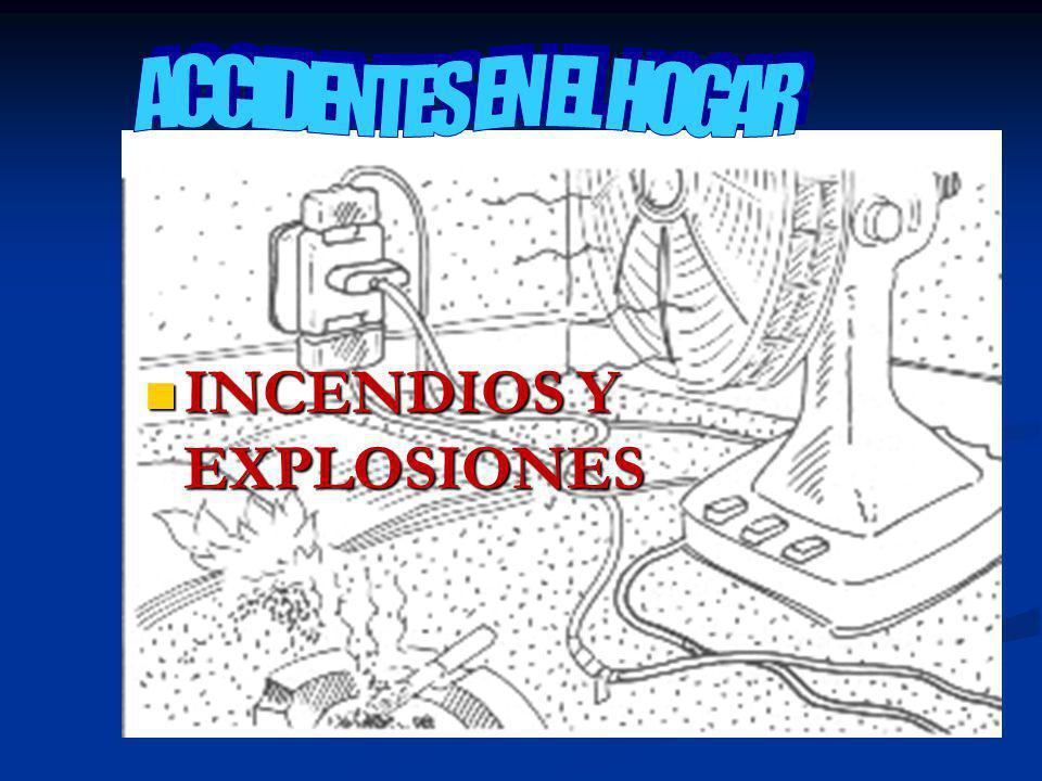 INCENDIOS Y EXPLOSIONES INCENDIOS Y EXPLOSIONES