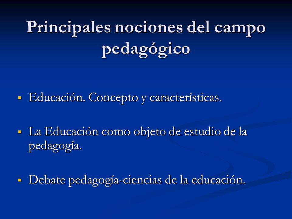 Educación.Concepto y características. Educación. Concepto y características.