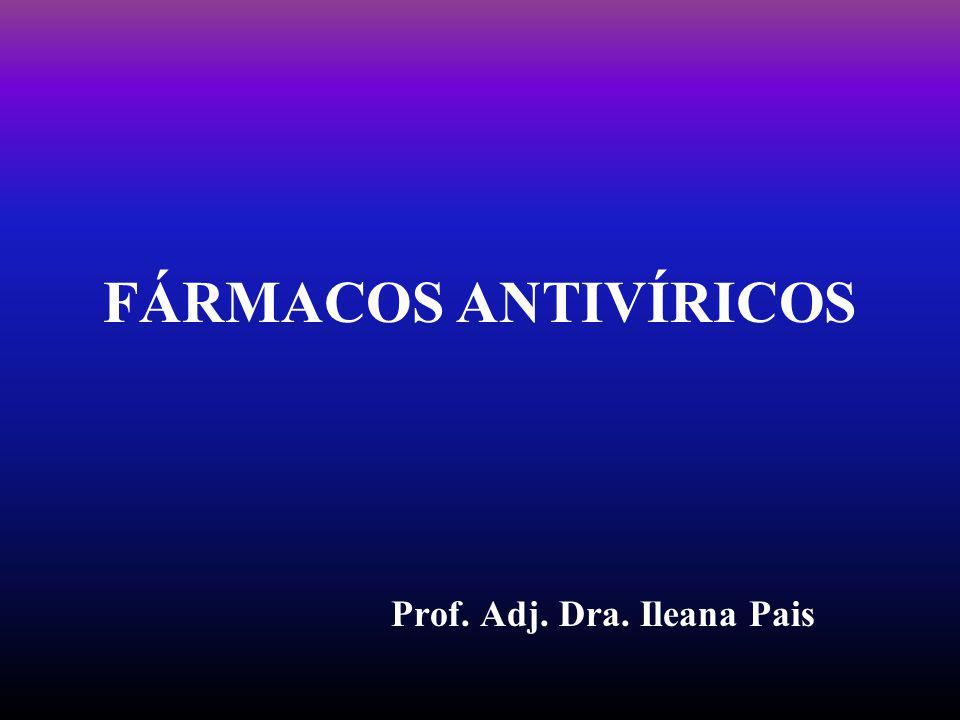 FÁRMACOS ANTIVÍRICOS Prof. Adj. Dra. Ileana Pais
