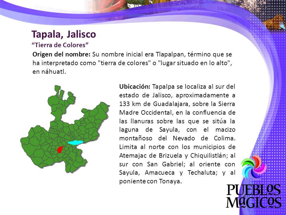 De clima semiseco templado, Tapalpa presenta temperaturas que fluctúan alrededor de los 16 °C, con una precipitación media anual de 889 mm, con régimen de lluvias en los meses de junio a octubre con vientos dominantes en dirección este y noreste y un número aproximado de 92 días de heladas.