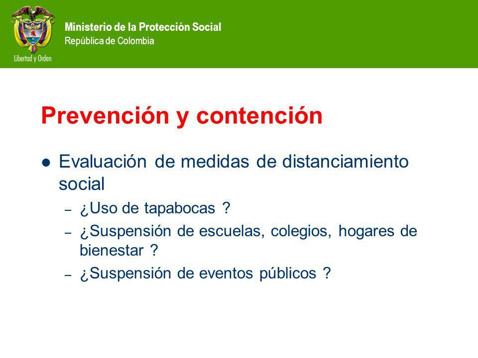 Ministerio de la Protección Social República de Colombia Prevención y contención Evaluación de medidas de distanciamiento social – ¿Uso de tapabocas ?