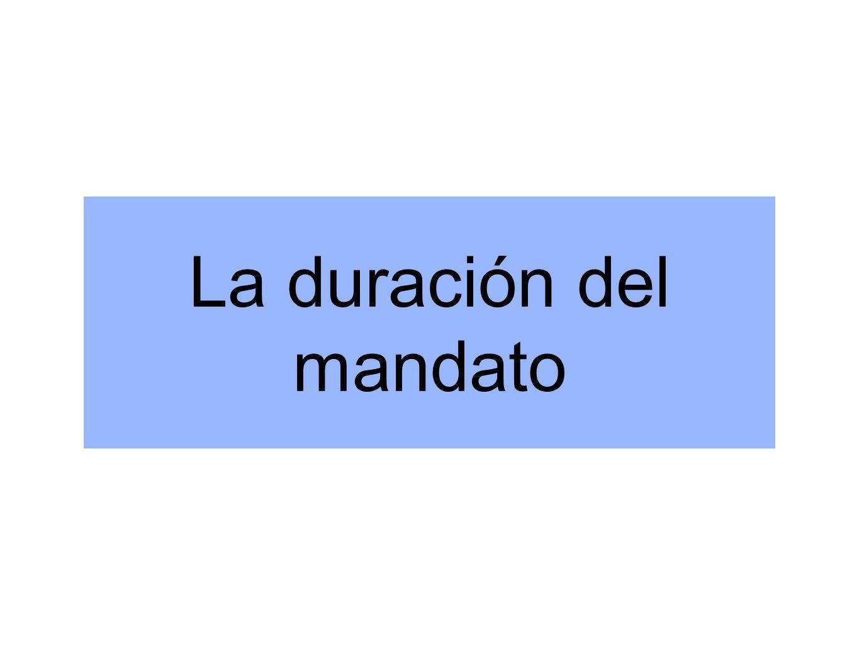La duración del mandato