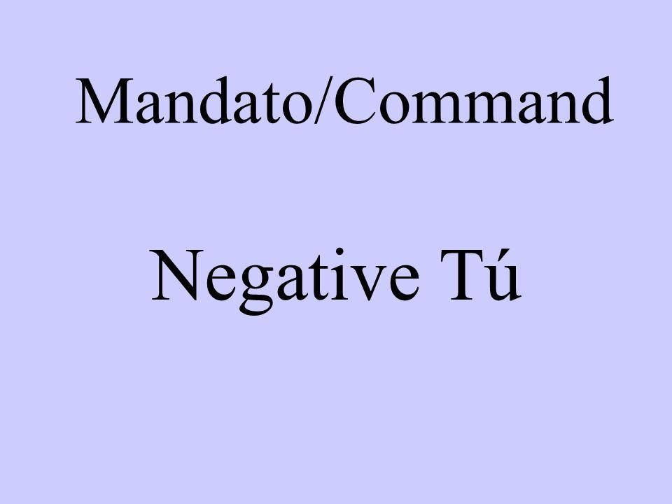 Mandato/Command Negative Tú
