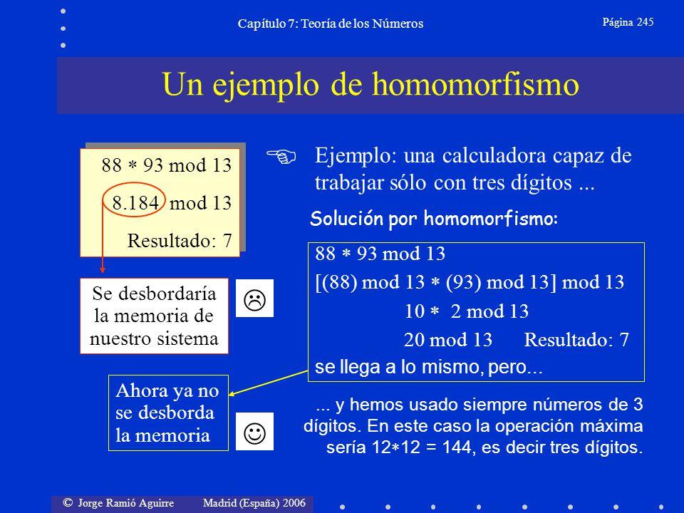 © Jorge Ramió Aguirre Madrid (España) 2006 Capítulo 7: Teoría de los Números Página 246 En criptografía muchas veces nos interesará encontrar el máximo común denominador mcd entre dos números a y b.