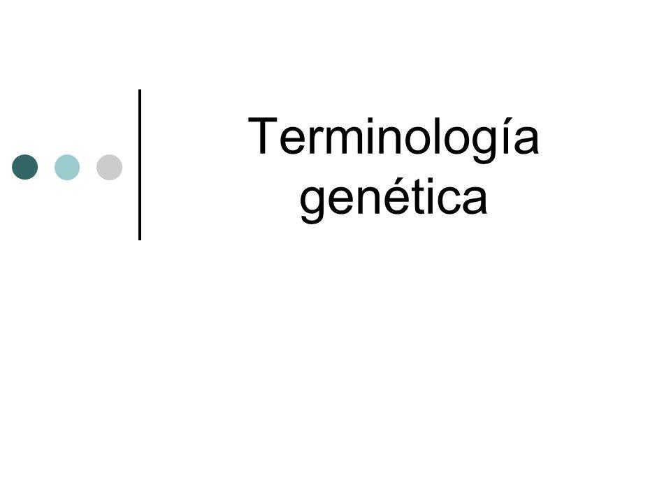 Terminología genética