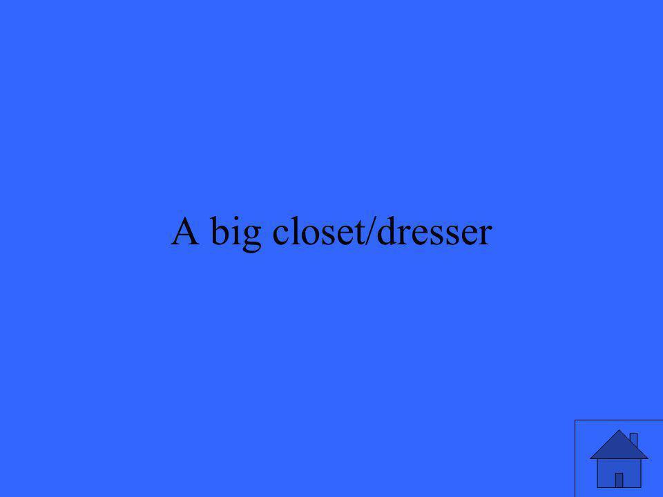 3 A big closet/dresser