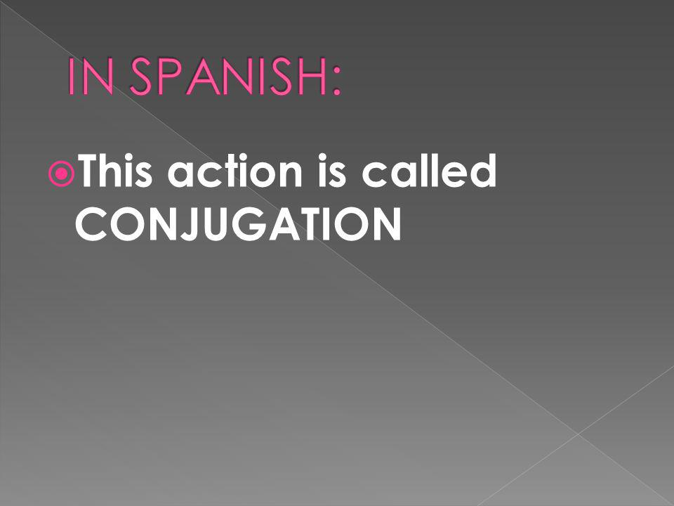 This action is called CONJUGATION