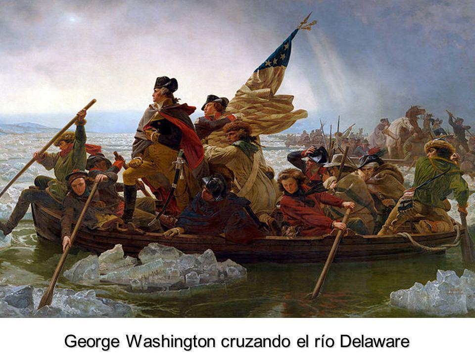 George Washington cruzando el río Delaware