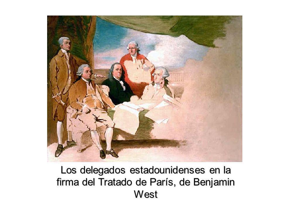 Los delegados estadounidenses en la firma del Tratado de París, de Benjamin West