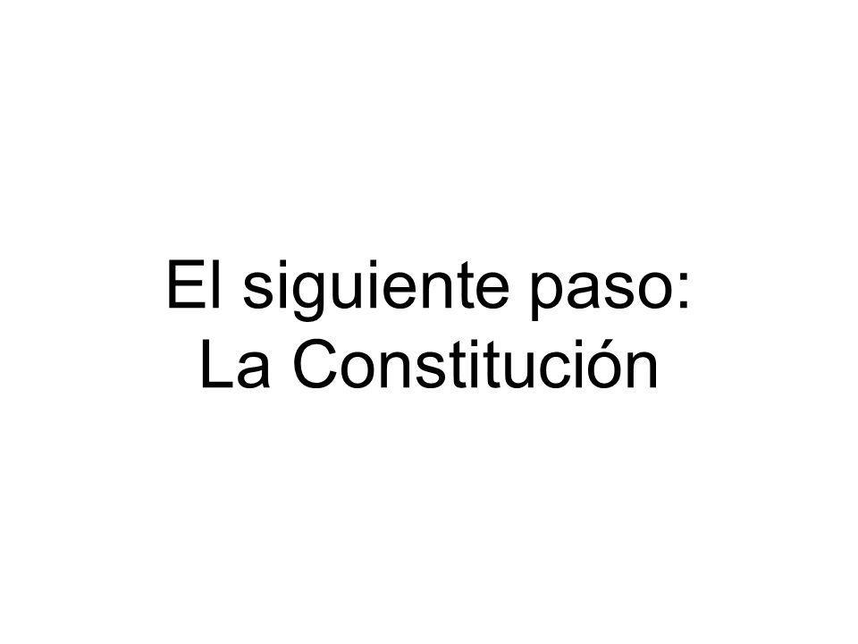 El siguiente paso: La Constitución