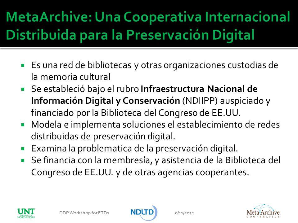 Es una red de bibliotecas y otras organizaciones custodias de la memoria cultural Se estableció bajo el rubro Infraestructura Nacional de Información