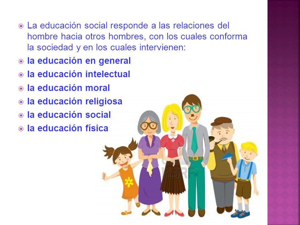 En efecto como en la educación se responde a las facultades y a las relaciones del hombre, solemos hablar de una educación intelectual, moral religios