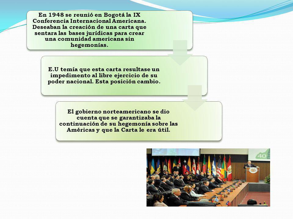 En 1948 se reunió en Bogotá la IX Conferencia Internacional Americana.