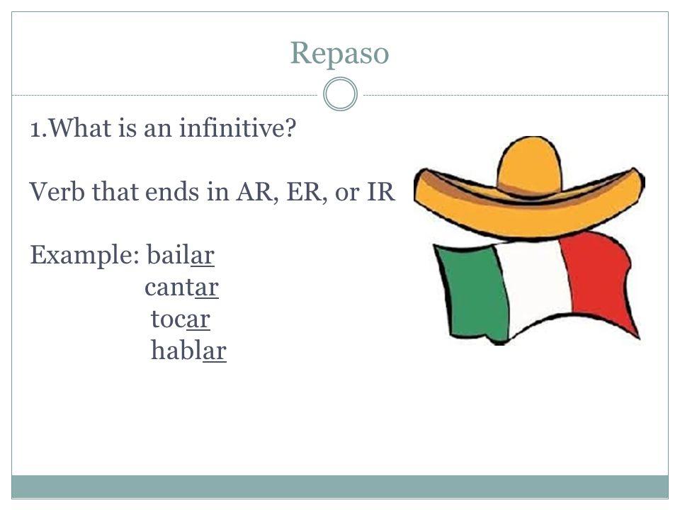 ESPAÑOL 1 Conjugating AR Verbs