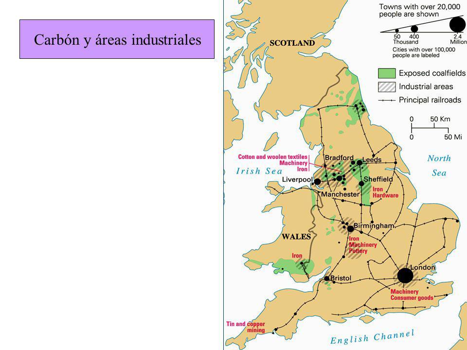 Carbón y áreas industriales