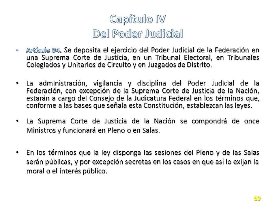 La Suprema Corte de Justicia de la Nación se compondrá de once Ministros y funcionará en Pleno o en Salas.