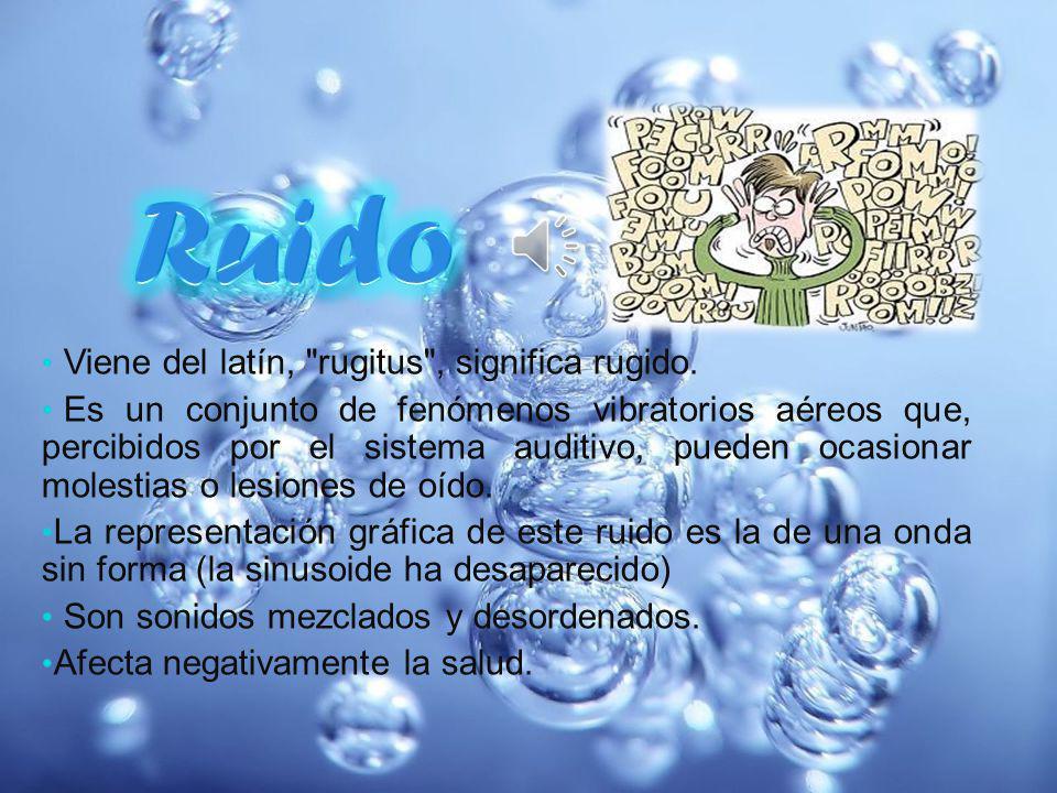 Viene del latín, rugitus , significa rugido.