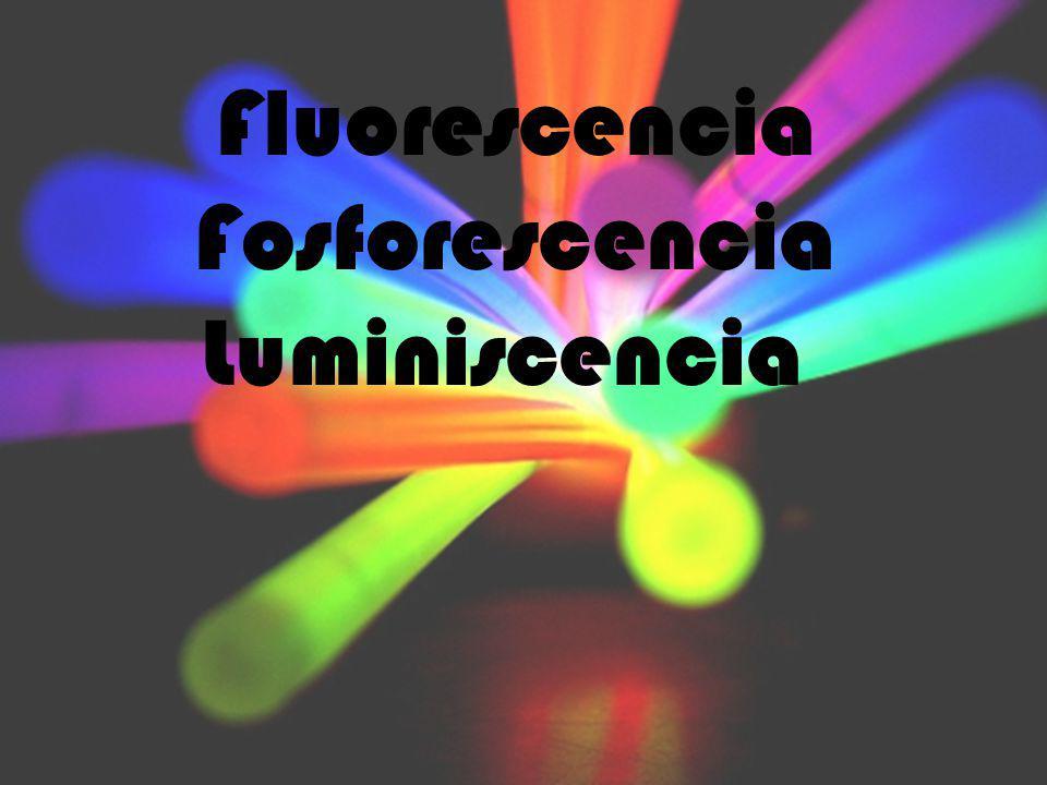 Fluorescencia Fosforescencia Luminiscencia