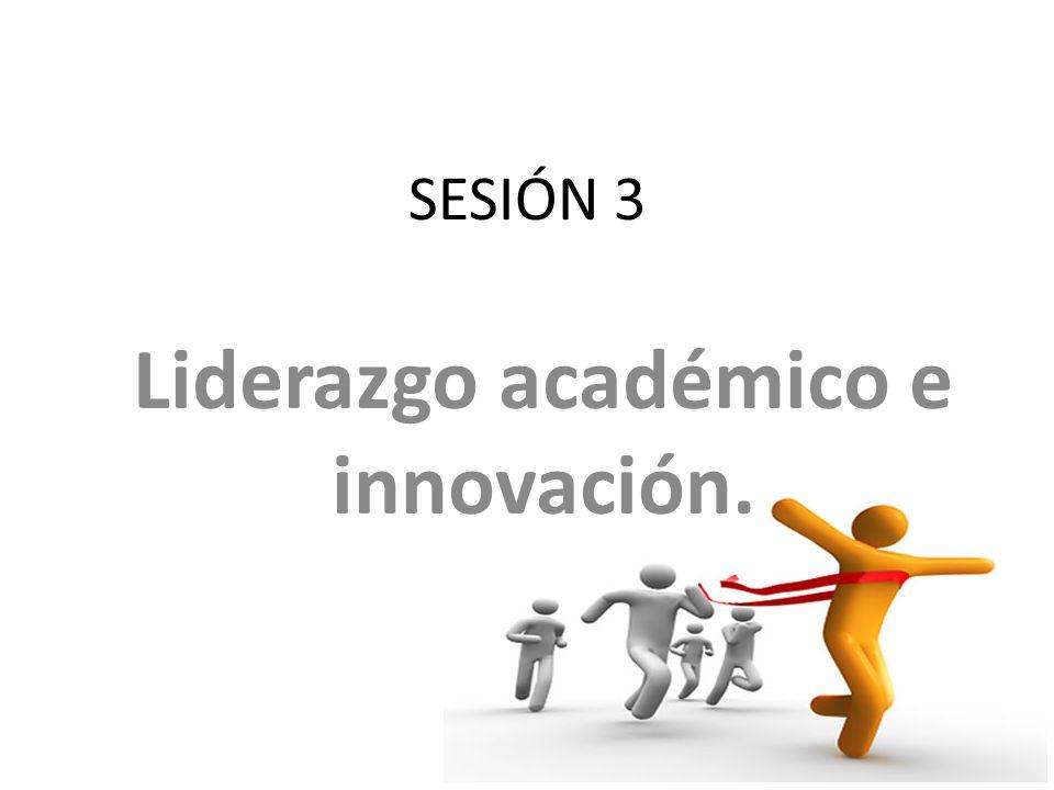 SESIÓN 3 Liderazgo académico e innovación.