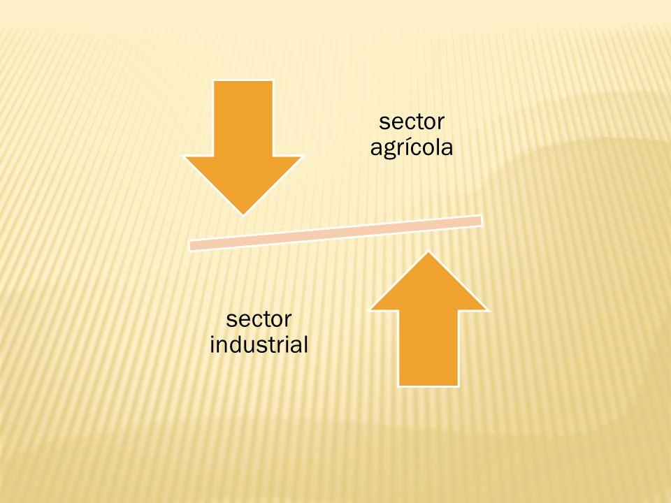 sector agrícola sector industrial
