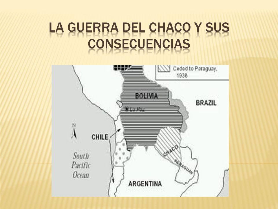 Entre Paraguay y Bolivia desde finales del siglo XIX La guerra estalló en 1932 debido a intereses petroleros.