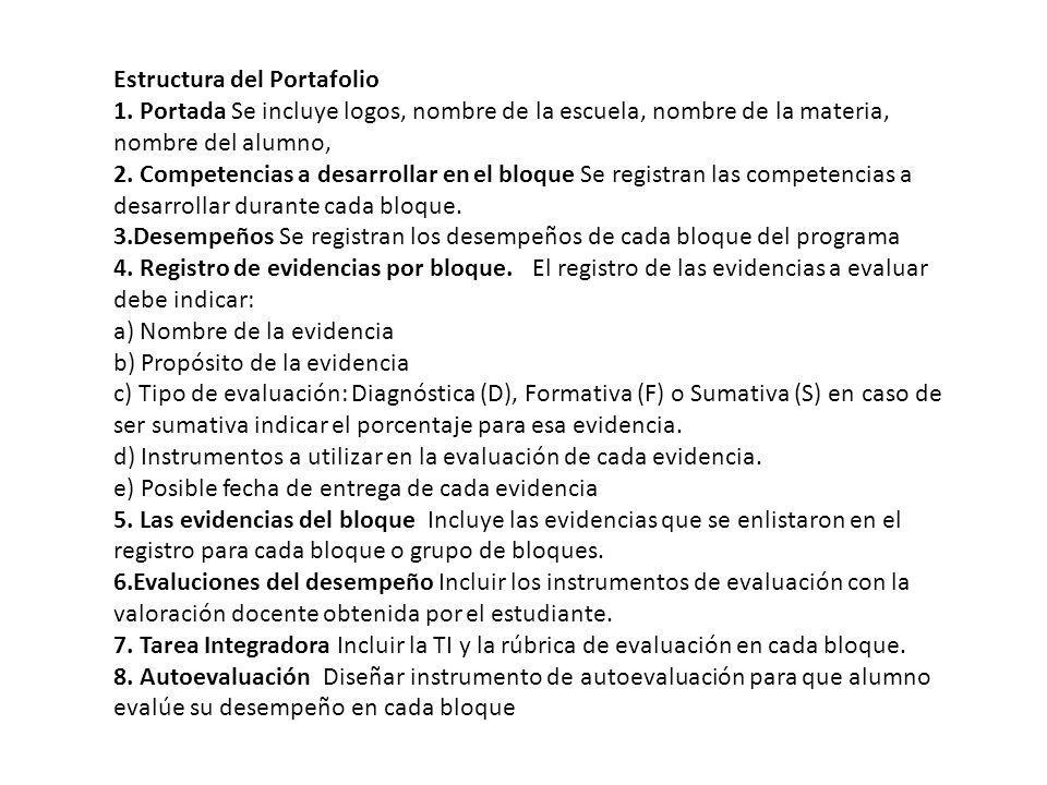 Estructura del Portafolio 1.