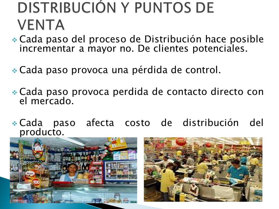 Cada paso del proceso de Distribución hace posible incrementar a mayor no.