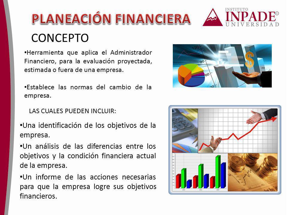 Herramienta que aplica el Administrador Financiero, para la evaluación proyectada, estimada o fuera de una empresa. Establece las normas del cambio de
