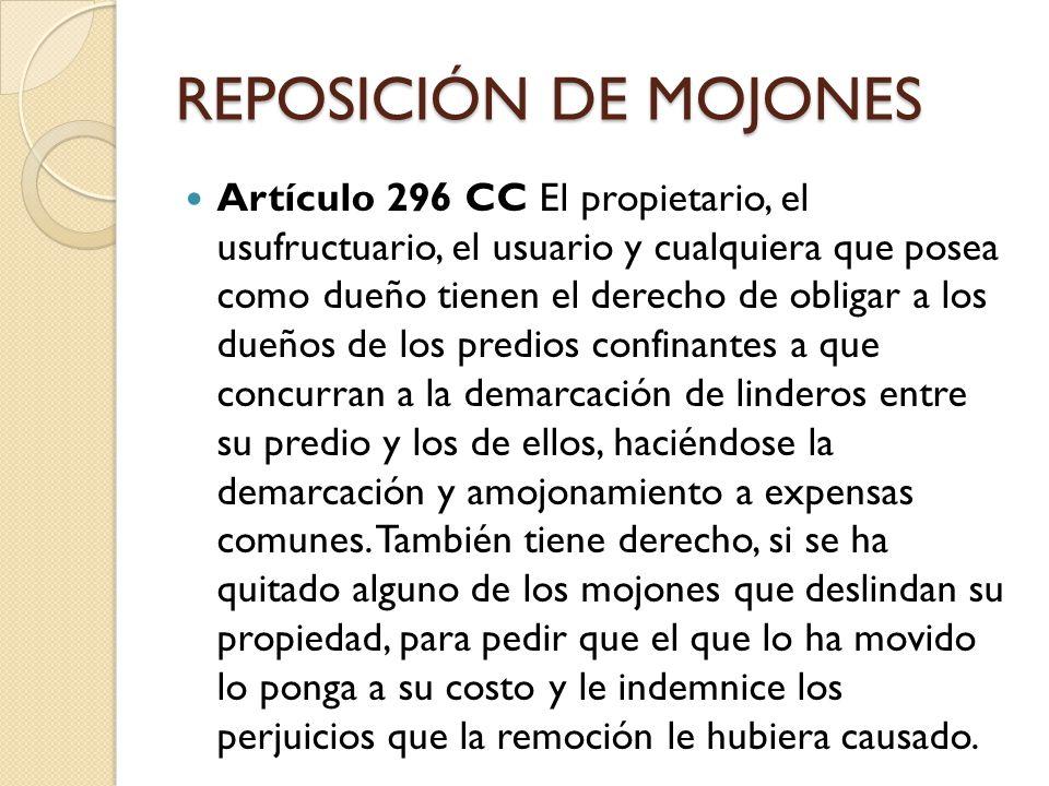 REPOSICIÓN DE MOJONES Artículo 468 CPC Sentencia.